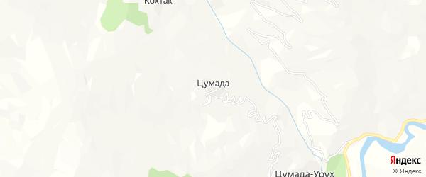 Карта села Цумады в Дагестане с улицами и номерами домов