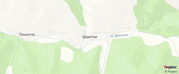 Карта села Шаитли в Дагестане с улицами и номерами домов