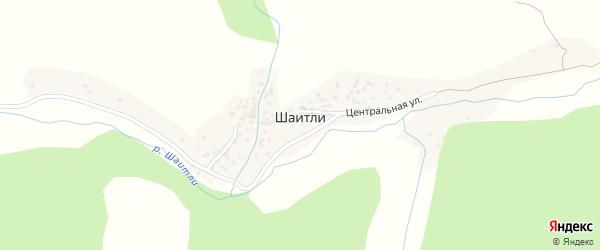 Центральная улица на карте села Шаитли с номерами домов