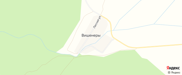 Карта деревни Вишенер в Чувашии с улицами и номерами домов