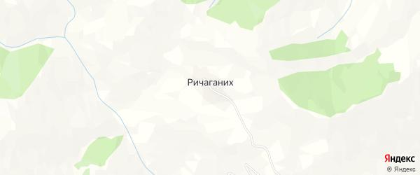 Карта села Ричаганиха в Дагестане с улицами и номерами домов