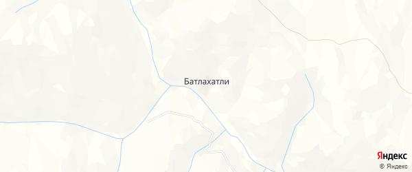 Карта хутора Батлахатли в Дагестане с улицами и номерами домов