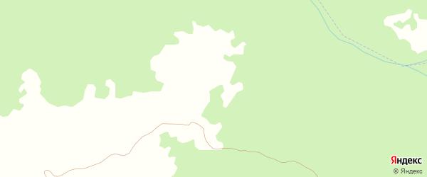 Переулок 1-й Тазен-Калинская на карте села Джани-Ведено с номерами домов