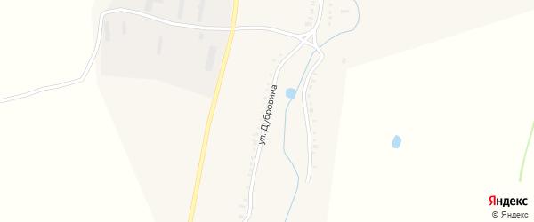 Улица Дубровина на карте села Никулино с номерами домов