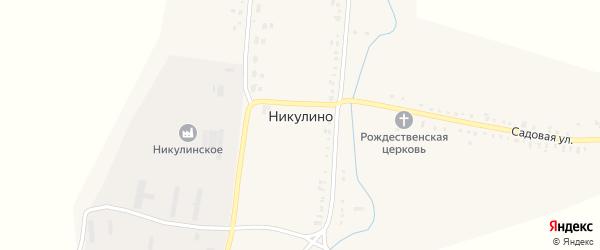 Улица Веры Жаковой на карте села Никулино с номерами домов
