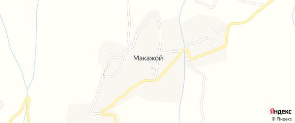 Улица А.Х.Кадырова на карте села Макажой с номерами домов