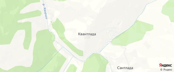 Карта села Квантлады в Дагестане с улицами и номерами домов