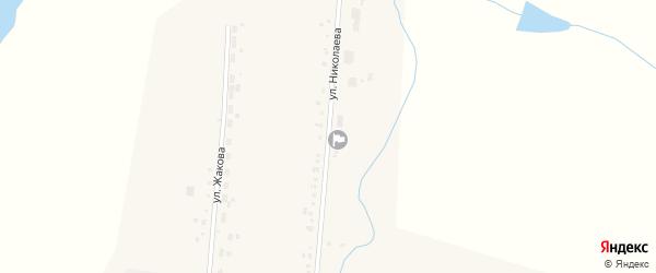 Улица Николаева на карте села Никулино с номерами домов