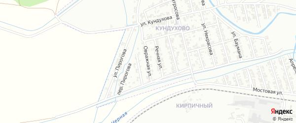 Овражная улица на карте Гудермеса с номерами домов
