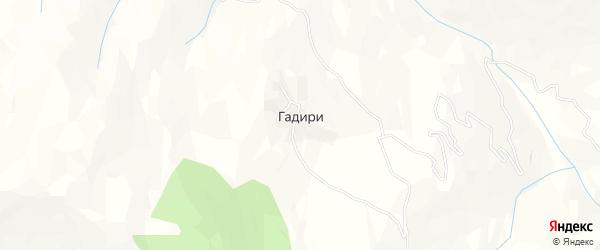 Карта села Гадири в Дагестане с улицами и номерами домов