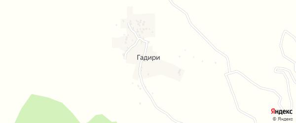 Улица Гадач на карте села Гадири с номерами домов