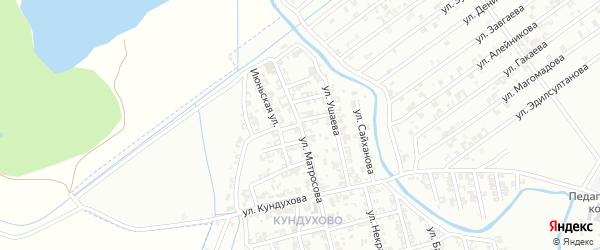 Улица Ушаева на карте Гудермеса с номерами домов