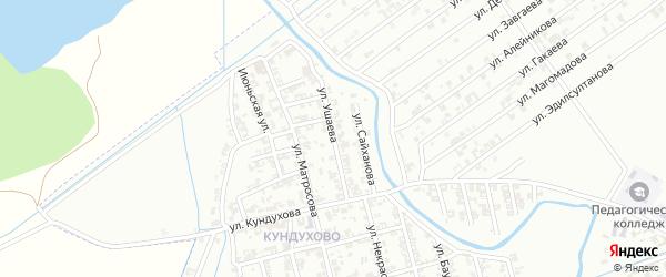 Улица Сайханова на карте Гудермеса с номерами домов
