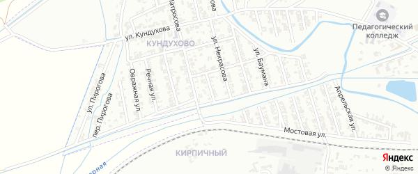 Совхозная улица на карте Гудермеса с номерами домов