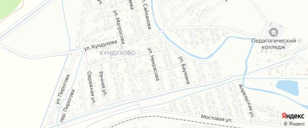 Улица Некрасова на карте Гудермеса с номерами домов