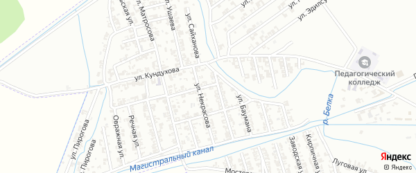 Улица Д.Бедного на карте Гудермеса с номерами домов