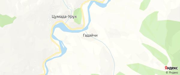 Карта села Гадайчи в Дагестане с улицами и номерами домов