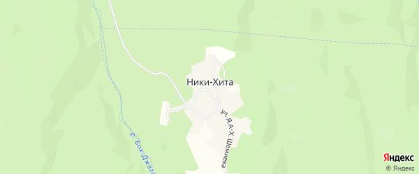 Карта села Ники-Хиты в Чечне с улицами и номерами домов