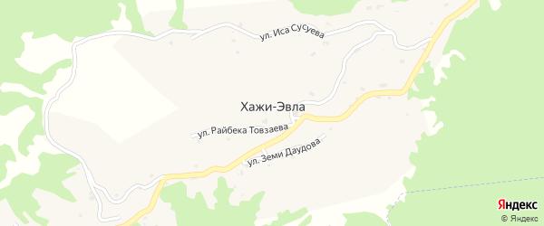 Улица Даудова З.И. на карте Первомайского села с номерами домов