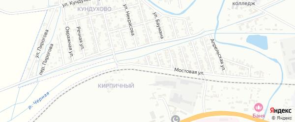 Короткая улица на карте Гудермеса с номерами домов