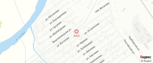 Улица Вагапова на карте Гудермеса с номерами домов