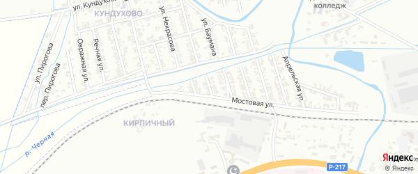 Чернореченская улица на карте Гудермеса с номерами домов