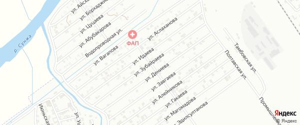 Улица Я.Зубайраева на карте Гудермеса с номерами домов