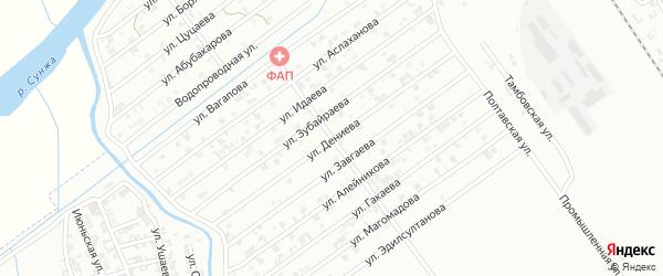 Улица Р.Хасбулатова на карте Гудермеса с номерами домов