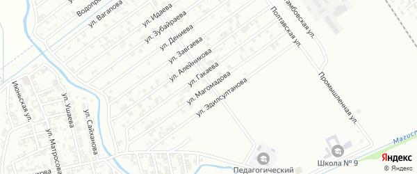 Улица Магомадова на карте Гудермеса с номерами домов