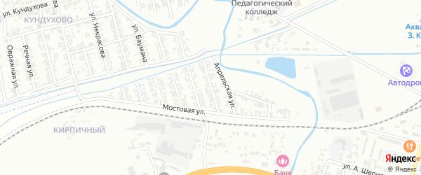 Кирпичная улица на карте Гудермеса с номерами домов