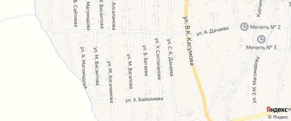 Западная 3-я улица на карте села Курчалой с номерами домов