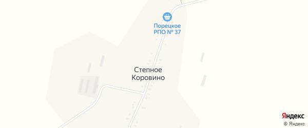 Садовая улица на карте поселка Степное Коровино с номерами домов