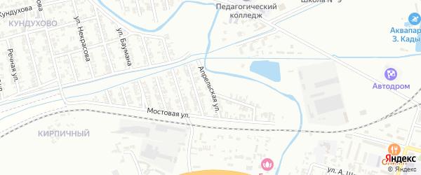 Апрельская улица на карте Гудермеса с номерами домов