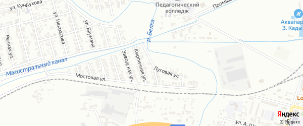 Апрельская улица на карте села Нового Энгеной с номерами домов