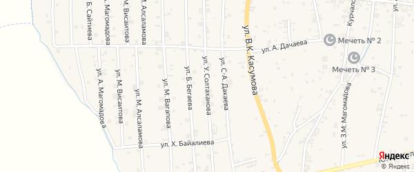 Западная 2-я улица на карте села Курчалой с номерами домов