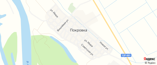 СТ СОТ Ерик на карте села Покровки с номерами домов