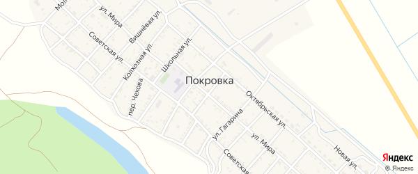 Почтовая улица на карте села Покровки с номерами домов