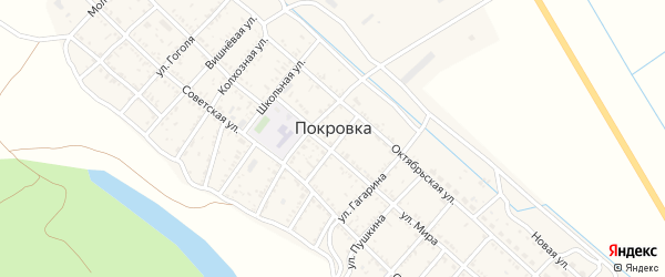 Аптечная улица на карте села Покровки с номерами домов