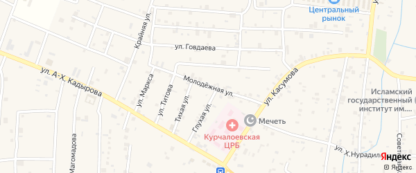 Молодежная улица на карте села Курчалой с номерами домов