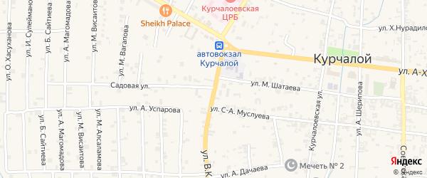 Улица И.А.Касумова на карте села Центарой с номерами домов