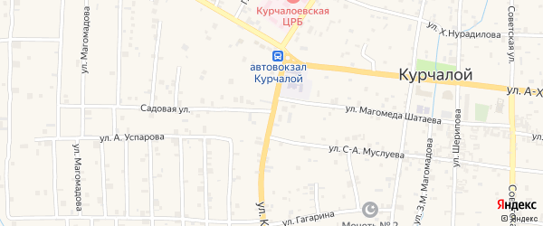 Улица В.К.Касумова на карте села Курчалой с номерами домов