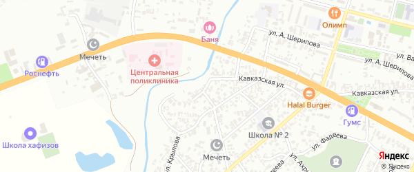 Улица Крылова на карте Гудермеса с номерами домов