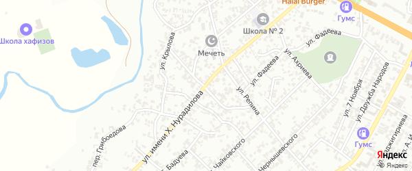 Улица Х.Нурадилова на карте села Нижний-Нойбер с номерами домов
