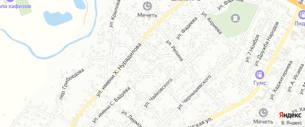 Горный переулок на карте Гудермеса с номерами домов