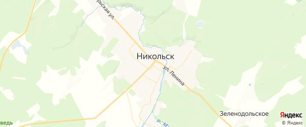 Карта Никольска с районами, улицами и номерами домов