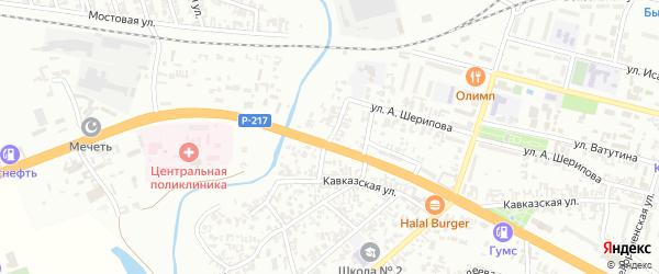 Набережная улица на карте Гудермеса с номерами домов