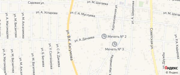 Улица Гагарина на карте села Курчалой с номерами домов