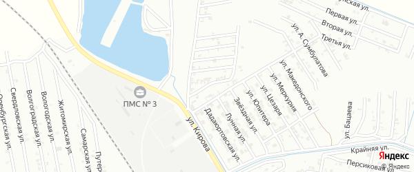 Дадиюртовский переулок на карте Гудермеса с номерами домов