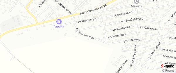 Ауховский переулок на карте Гудермеса с номерами домов