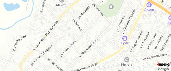 Улица Репина на карте Гудермеса с номерами домов